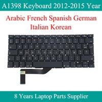 Pro Retina A1398 Arapça Fransızca İspanyolca Almanca İtalyanca Kore Klavye Değiştirme 2012 2013 2014 2020 İçin A1398 Klavye