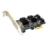 جديد إضافة على بطاقة SATA3 PCI-E / PCIE / PCI Express SATA 3 تحكم مضاعف بطاقة SATA / توسيع PCI E PCIE X1 SATA ميناء محول