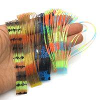 5pcs Rompin / lot Pesca Lure Silicone Multi-coloridos Camadas saia material de borracha gabaritos baixo zumbido isca DIY spinnerbaits Trailer