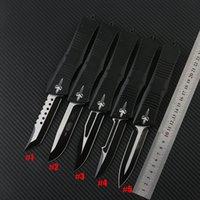 5 스타일 마이크로 테크 전투 Troodon 나이프 보우 / Hellhound Tanto / Spear Point D2 스틸 블레이드 전술 칼 UTX85 knifes