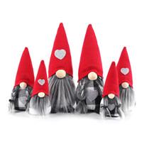 Natale Gnomi Doll Signora Signore di Santa scandinavo svedese Tomte Gnome Figurine di natale ornamenti decorazione domestica JK2008XB