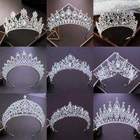 Acessórios do cabelo Crown bridal jóias de casamento headpiece Mulheres Barroco noiva Partido Coroas de casamento strass cristal Tiaras