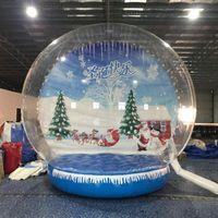 مخصصة للنفخ سنو غلوب صور كشك للبيع شفاف قابل للنفخ الإنسان سنو غلوب 3M ضياء عيد الميلاد يارد سنو غلوب الديكور