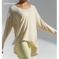 Loose Long Sleeve Crop Yoga Top Fitness Gym T Shirt Workout Tank Sports Women Casual Tops Athletic Shirts Sportwear Sexy Clothes
