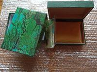 Spedizione gratuita Lu Xury orologio da uomo per la scatola di orologi RO e Lex Original Original Outer Womans Orologi da orologi da polso da uomo Green Booklet card