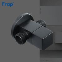Frap Válvula de llenado de latón negro redondo baño válvula de entrada inodoro válvula de ángulo y negro forma cuadrada pintura Y81116 / Y81117 T200605