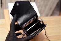 Женские дизайнерские держатели карты высшего качества кожаные женские кошельки черный организовать мешки слинг полосатые сумки для сотовых телефонов HASP 17,5 см