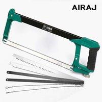 AIRAJ 520mm Adjustable Metallsägebogen mit Six Sägeblatt Haushalt Multifunktionale Groß Gärtner Holz Cutting Handwerkzeug