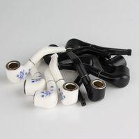 Glas Wasserleitung Super Mini Raucherpfeife Kreative Filter Zigarette Hand Rohrhalter Tragbare Kunststoff + Metall Für freies Verschiffen