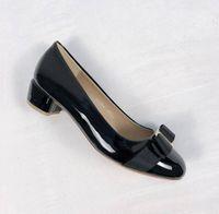 Yeni Kadın Flats Deri Bale Ayakkabı Kadın Patent Deri Papyon Flats Bayanlar Zapatos Mujer Sapato Kadınsı 225