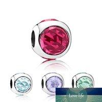 Perline di cristallo rotondi Charms Adatto gioielli Pandora multicolore fai da te braccialetti europei dei braccialetti delle ragazze delle donne migliori regali B021