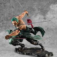 Sıcak Satış Tek Parça Anime Figür Roronoa Zoro 1/8 Üç Bıçak SA-Maksimum Ver. PVC Action Figure Koleksiyon Model Oyuncaklar LJ200924