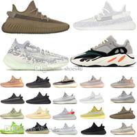 Шлак Yecheil Белый Черный Статический Светоотражающие Kanye West Мужские кроссовки Ешая Desert Sage Tail Light Бред Zebra Земли Мужчины Женщины Sneaker