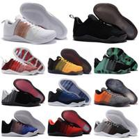 أسود mamba xi 11 النخبة منخفضة 4 كيلوباين الرجال أحذية كرة السلة أعلى جودة 11 النخبة منخفضة جميع start sneaker store Size 7-12