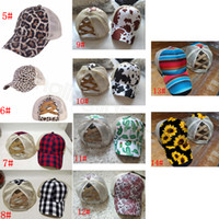Criss Cross Baseball Cap trump Leopard Bufflao Plaid Ball Cu...