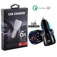 Auto-Ladegerät QC3.0 Dual-USB-Ladegerät 5V 3.1A 2.4A Energien-Adapter Auto-Ladegeräte für iphone 7 8 11 Samsung Note 10 S8 S10 htc Android-Handy GPS