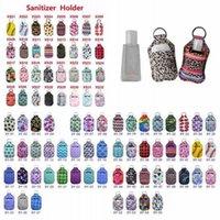 98 Styles Neoprene Hand Sanitizer Bottle Holder 30ml Lipstick Holders Lip Cover Handbag Keychain Pouch Chapstick Holder Party Favor fy8118