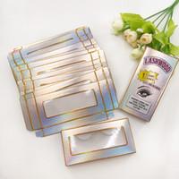 뜨거운 판매 소프트 종이 속눈썹 박스 Lashwood 래쉬 상자 빈 포장 맞춤 25mm의 27mm 롱 아이 래쉬