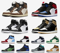Nouveaux hommes Femmes Sports Chaussures Jumpman 1S Basketball Chaussures Athlétisme Sneakers pour Femmes Sports Torch Hare jeu Royal Pine Green Basketball Chaussures de basketball
