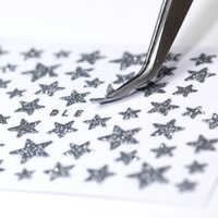 1 Sheet 3D Nail Stars Love Stickers Glitter Shiny Decoration Decal DIY Transfer Adhesive Colorful Nail Tips Tattoo Manicuring