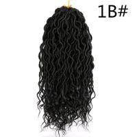 Long wavy Faux Locs Crochet cheveux bouclés avec Ends 18 pouces synthétique Extension de cheveux pour les femmes africaines haute __gVirt_NP_NN_NNPS<__ fibre de température