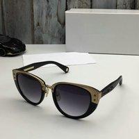 523 Sonnenbrillen für Frauen tenperament populäre Sonnenbrille Art und Weise Diamant-Stein UV-Schutz Glasfarbe überzog Katzenaugenrahmen kommen mit Kasten