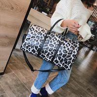 2021 Tote Fashion Foldable Women Travel Weekend Bag Large Leopard Portable Duffle Designer Capacity Brand Shoulder Luggage Waterpro Wabfs