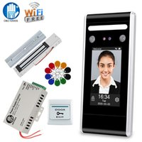 RFID WiFi двери Система контроля доступа Kit Face Пароль Биометрические клавиатура + питания + Электронные замки с программным обеспечением TCP / IP
