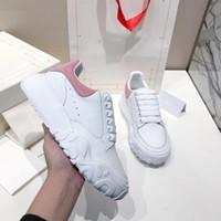 2020 zapatos de diseñador de zapatos cordones de la plataforma de los zapatos ocasionales del partido del vestido de las mujeres de gran tamaño Corte Formadores Formadores de becerro corredor con la caja