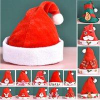 Roter Weihnachtsmann-Hut für Erwachsene Kinder-weicher Plüsch Weihnachten Cosplay Kappen Weihnachtsdekoration Erwachsene Kinder Haustier Hund Xmas Party Hüte HH9-3263
