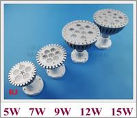 عالية الطاقة الصمام لمبة الأضواء 5 واط 7 واط 9 واط 12 واط (اختياري) بقعة بقعة مصباح ضوء الاستفادة مصططة ضوء AC85-265V 5LED 7LED 9LED