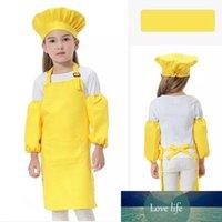 مل 3pcs / مجموعة الأطفال مطبخ الخصور قبلات الاطفال مع SleeveChef القبعات لوحة الطبخ الخبز