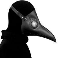الطاعون طبيب الطيور قناع الأنف طويل المنقار تأثيري Steampunk تأثيري هالوين الدعائم كرو ريبر قناع JK2009PH