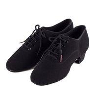 Genuínos sapatos BD Homens Dança Latina Sapatos Adulto dois pontos Professor Soles Calçados base macia dança masculina 417 Oxford Cloth Heel 4,5