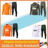 2020 Kids Manchester Fussball Trainingsanzug Lukaku Rashford Jacke 20/21 Pogba United Fussball MAILTOT DE FOOT Trainingsanzug
