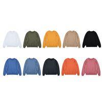 Mens Tide Grosso Seção Hoodies dos pares da forma camisola Oversize cor sólida larga em torno do pescoço capuz Streetwear