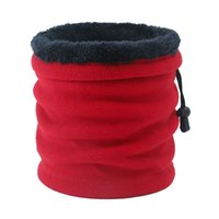 2020 Herbst und Winter New Zwei-User-Außen Dual-Use-Warm Polar Fleece Bib Solid Color Schal 1PC