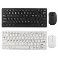 2.4G Mini teclado sem fio e conjunto de mouse óptico combos para laptop de desktop teclados de TV inteligente membrana