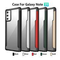 Klarer PC TPU Metall-Hybrid-Handy-Fälle für Samsung-Anmerkung 20 Ultra-iPhone 11 Pro Max Luxuxargument