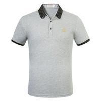 Yaz İngiltere Klasik Kısa Kollu Çizgili Nakış Polos Rahat Erkekler Polo Gömlek Yaka Boyun Pamuk Yüksek Kalite Polo Gömlek