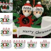EU Stock Quarentena Tema 2020 presentes Árvore de Natal Decoração de Santa Claus boneca partido presente personalizado Ornamento conhecido social distanciamento