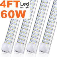 En forme de V 4ft 60W Cooler porte Led ampoules T8 Led intégré, magasin SMD2835 lumière double rangée de tubes conduit AC85-277V