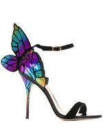 Sophia Webster Evangeline aile d'ange Sandal Plus Size 42 mariage en cuir véritable chausseurs Pink Glitter Chaussures papillon Femmes Sandales