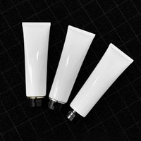 300ml High Capacity White Glossy Cosmetic Soft Tube Travel Packaging Containers Empty Makeup Squeeze Sub-bottling 20pcs lot