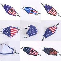 США Национальные Флаги Маски для лица Рот с вентилем Mascarilla моющийся Анти Pm 2,5 Mascherine Хлопок Дыхание ребенка, взрослого 4 75zp C2
