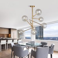 Modern kişilik sihirli fasulye cam kolye lamba Modern ışık fikstür asılı lamba tasarımcıları ağaç dalları cam topları