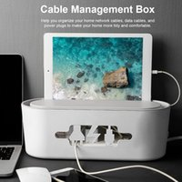 Gestione dei cavi elettrici Outlet Boxes plastica ABS Wire Storage Box Phone Holder Cable Manager organizzatore Power Line Winder