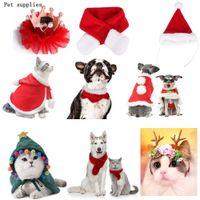 Noel Hediyesi Pet Elbise Kış Sıcak Noel Köpek Giydirme Köpek Kedi Giyim Komik Santa Evcil Giyim Noel Süslemeleri