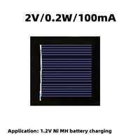 2V0.2W Solar panel DIY solar lamp charging panel Charging of 1.2V Ni MH battery 100mA Solar lamp string panel