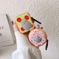 Cartoon nette Katze Bluetooth-Headset Abdeckung 3D Protect Schale Toast Donuts für airpods Fall für Apple Bluetooth-Headset Abdeckung